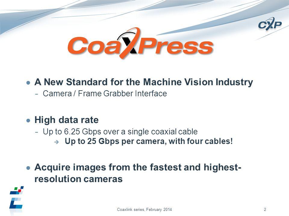 Coaxlink series, February 2014