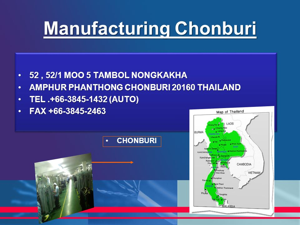 Manufacturing Chonburi