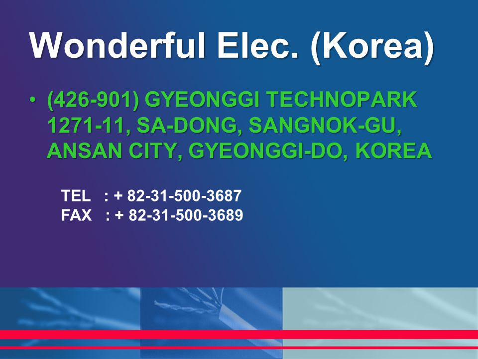 Wonderful Elec. (Korea)