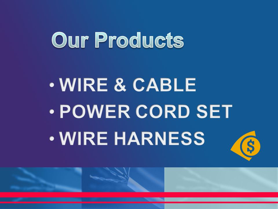 Our Products WIRE & CABLE POWER CORD SET WIRE HARNESS