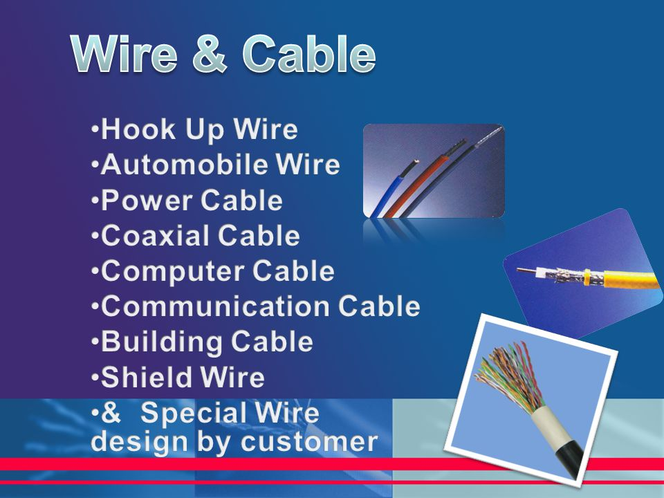 Wire & Cable Hook Up Wire Automobile Wire Power Cable Coaxial Cable