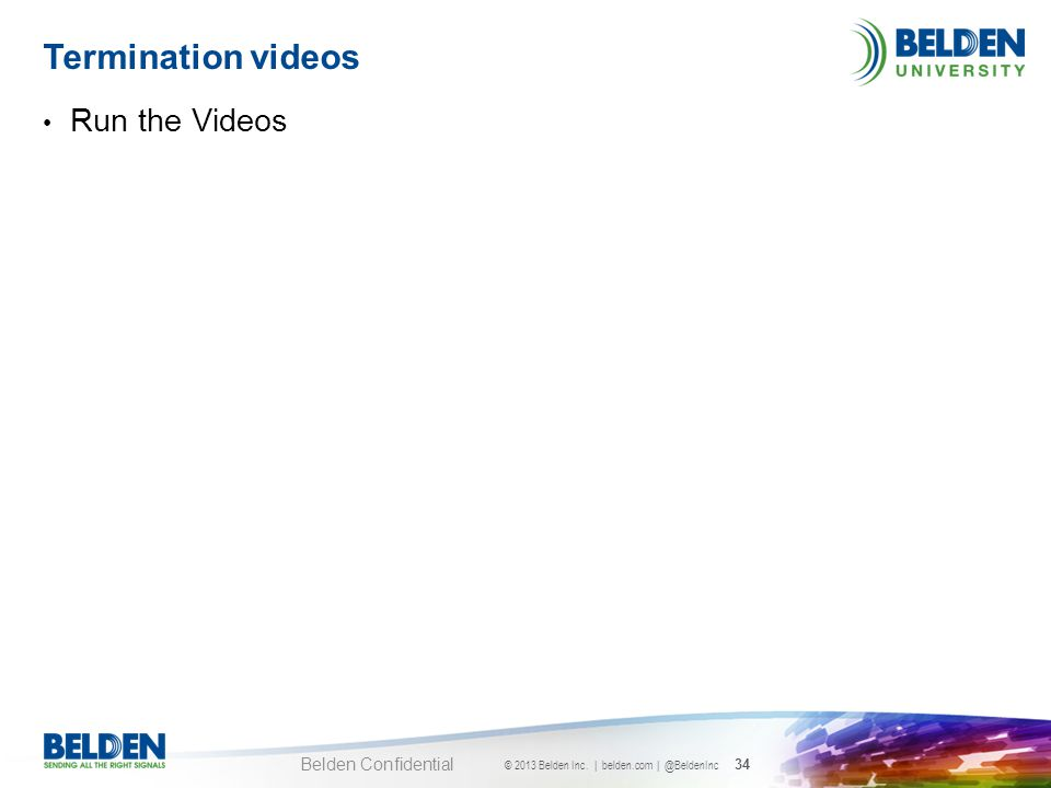 Termination videos Run the Videos