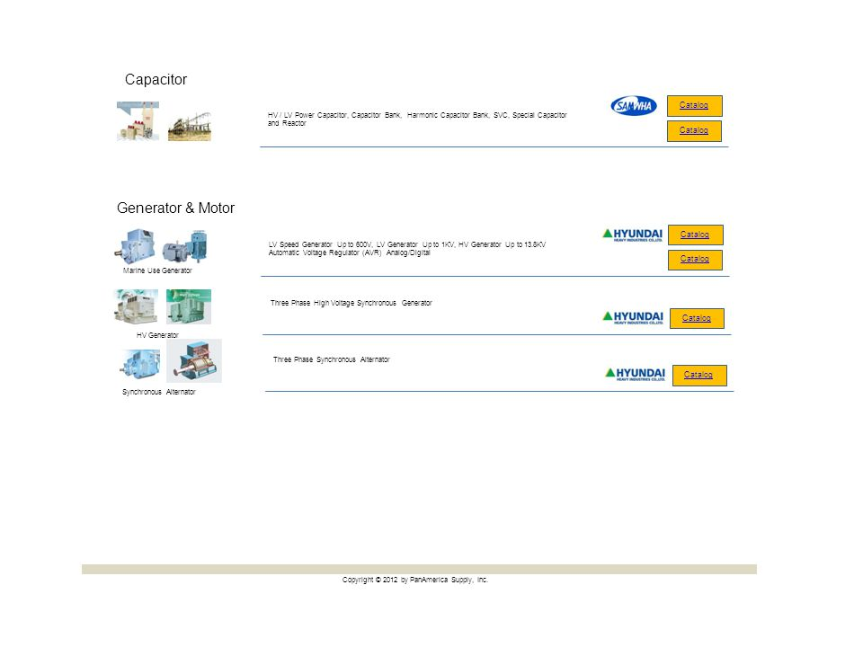 Capacitor Generator & Motor Catalog Catalog Catalog Catalog Catalog