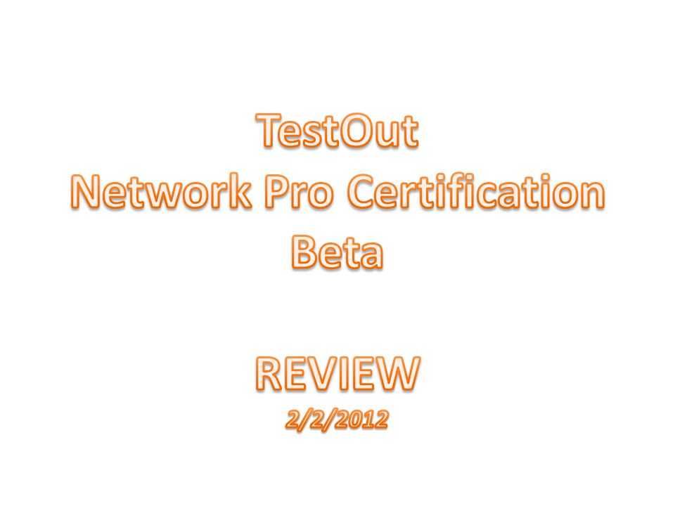 Network Pro Certification