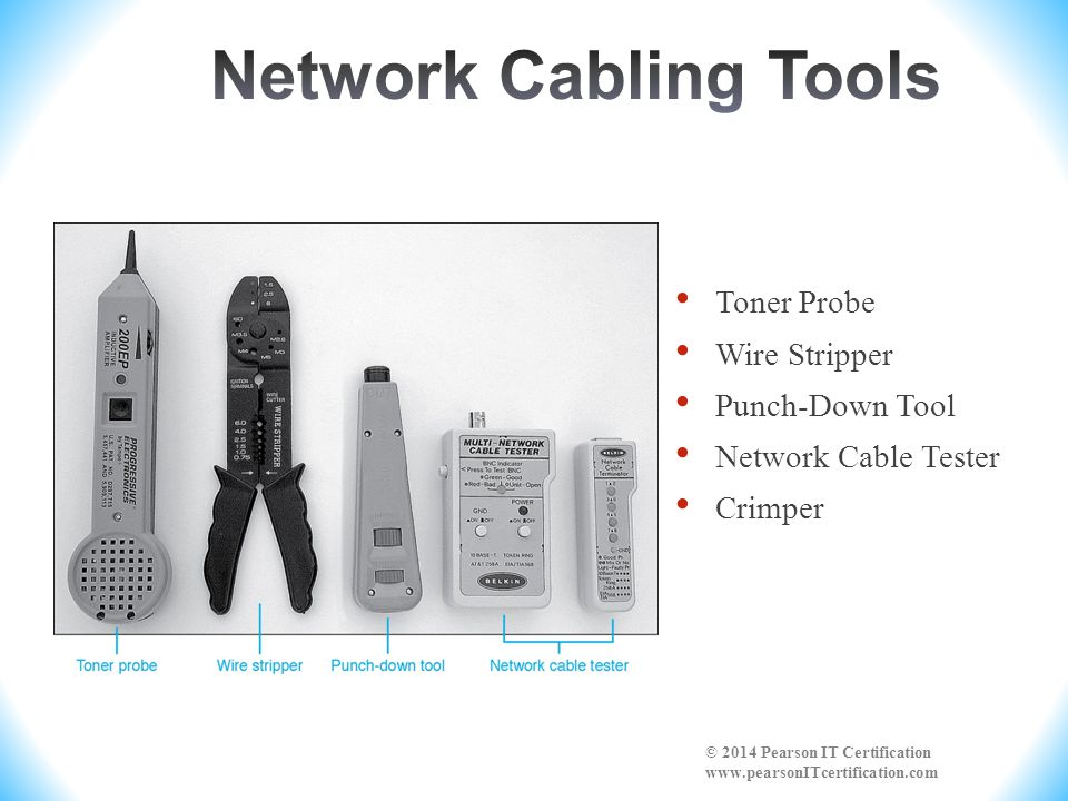 Network Cabling Tools Toner Probe Wire Stripper Punch-Down Tool
