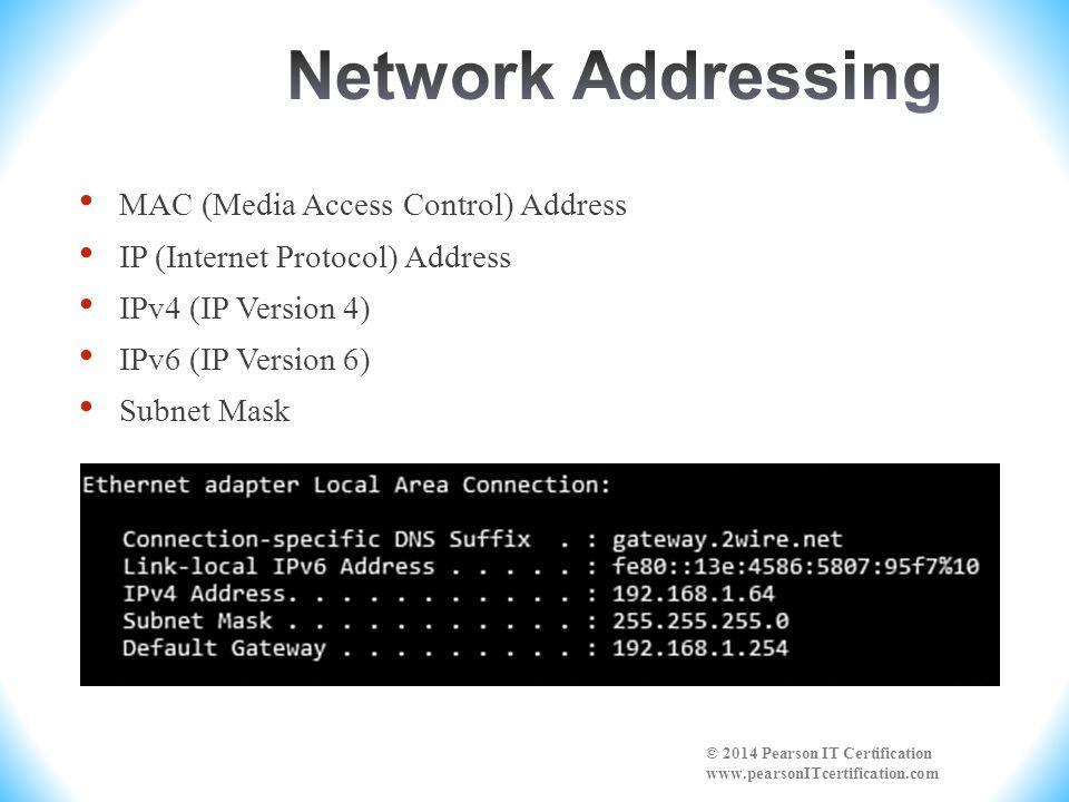 Network Addressing MAC (Media Access Control) Address