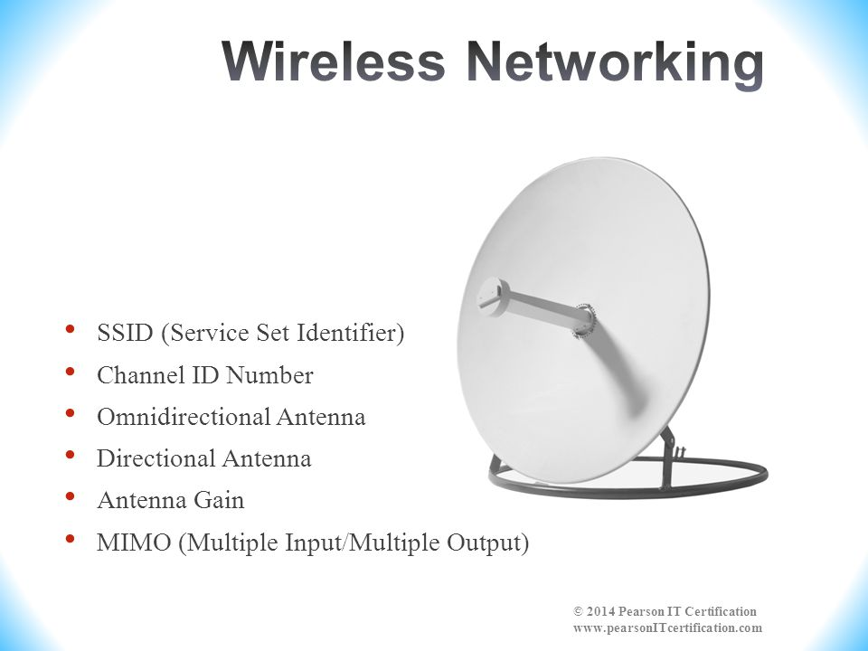 Wireless Networking SSID (Service Set Identifier) Channel ID Number