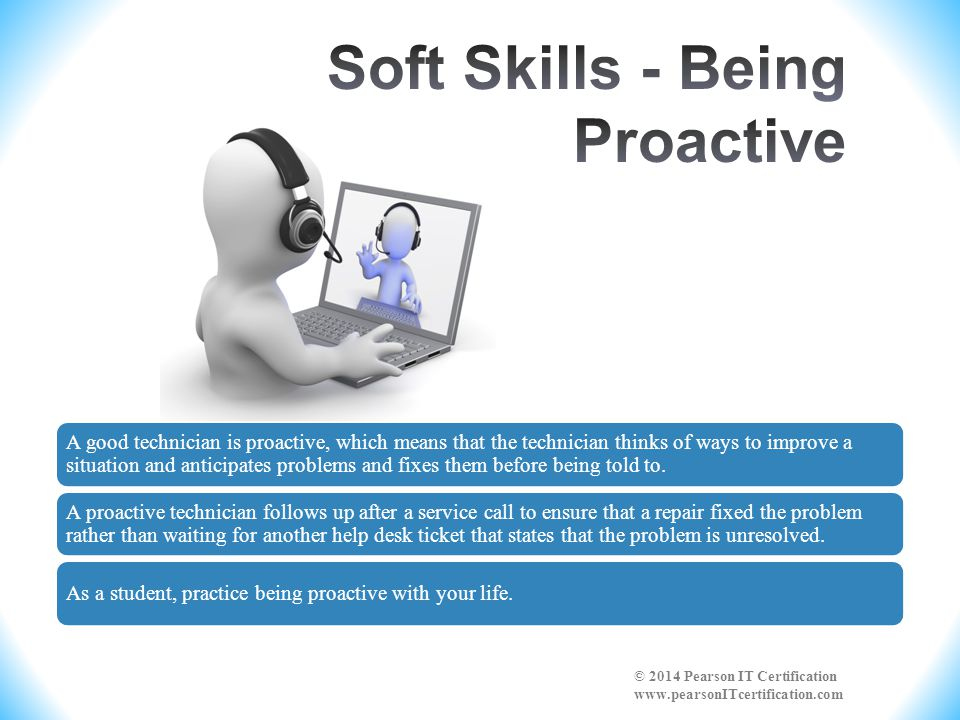 Soft Skills - Being Proactive