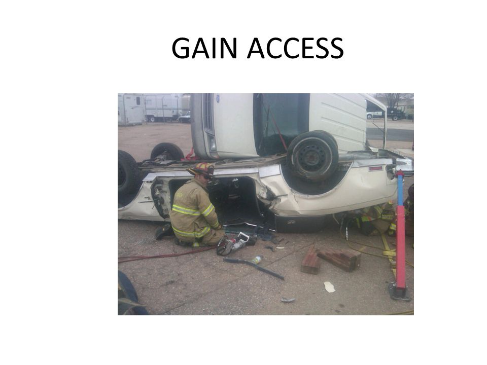 GAIN ACCESS In some situations you may need to open the door to gain access to shut-down the vehicle.