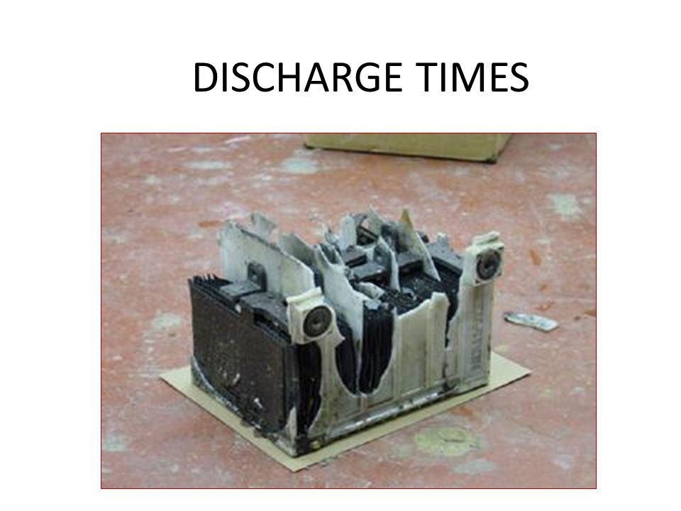 DISCHARGE TIMES CAUTION: