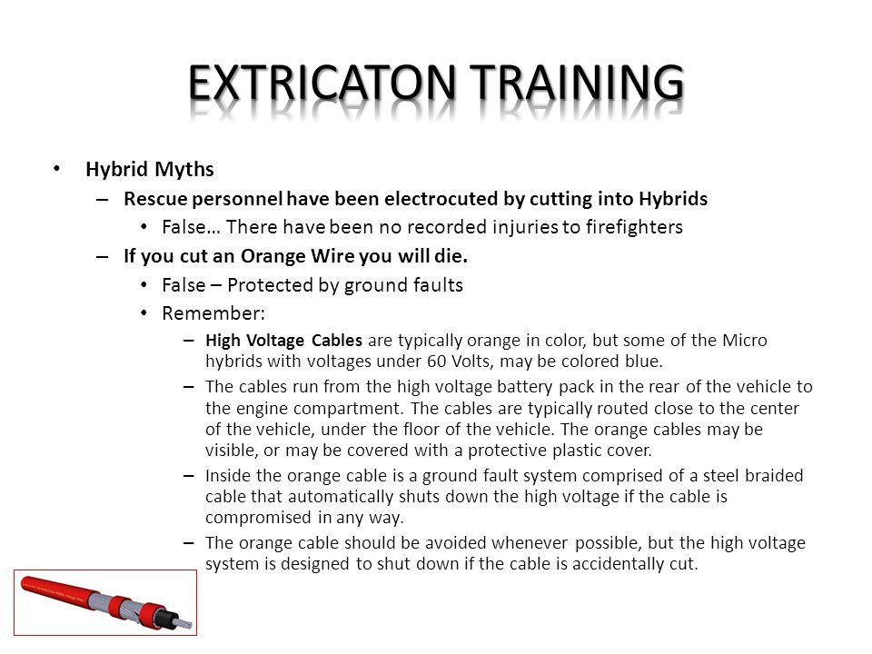 Hybrid High Voltage Wire Color : Extricaton training pleasant view fire ppt download