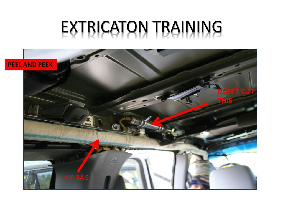EXTRICATON TRAINING PEEL AND PEEK DON'T CUT THIS AIR BAG