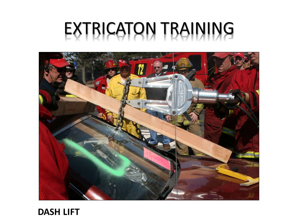 EXTRICATON TRAINING DASH LIFT