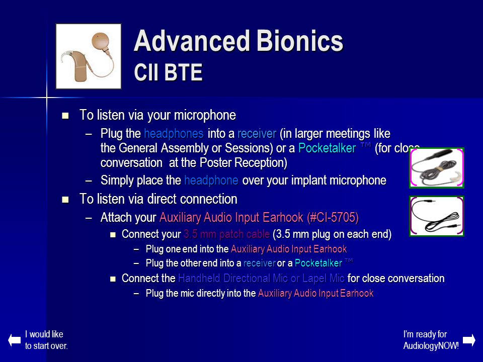 Advanced Bionics CII BTE