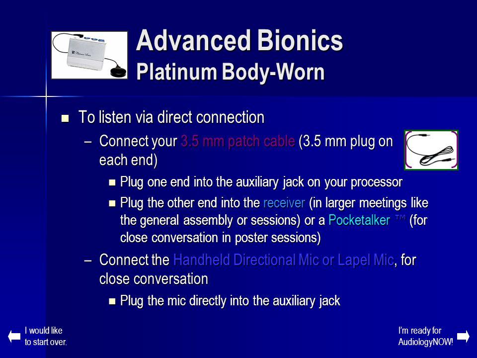 Advanced Bionics Platinum Body-Worn