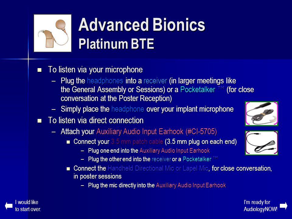 Advanced Bionics Platinum BTE