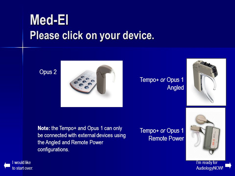 Med-El Please click on your device.
