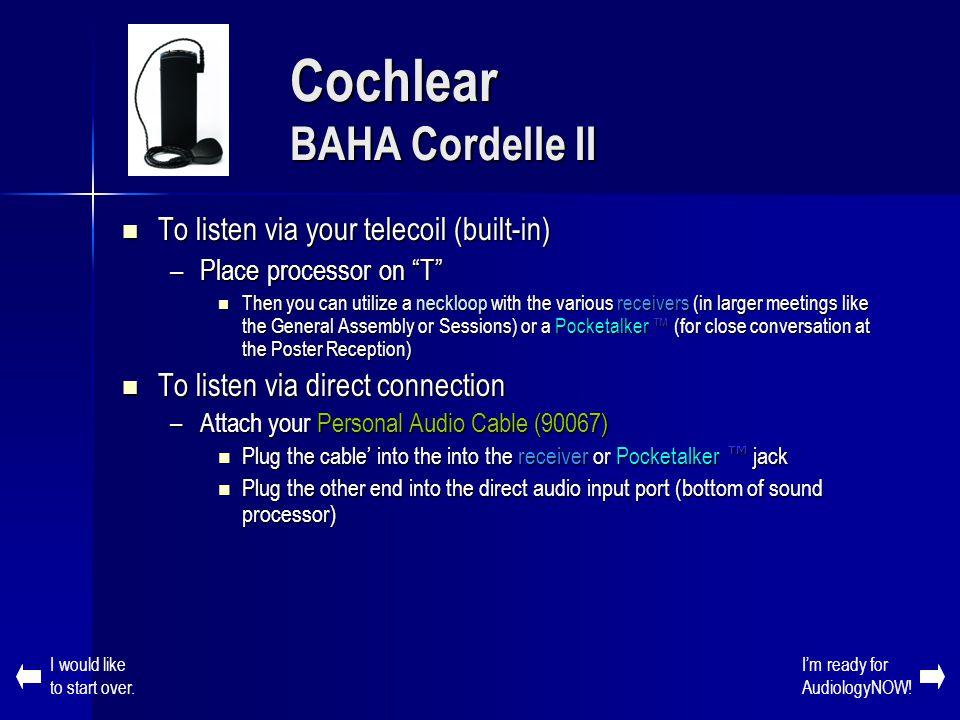 Cochlear BAHA Cordelle II