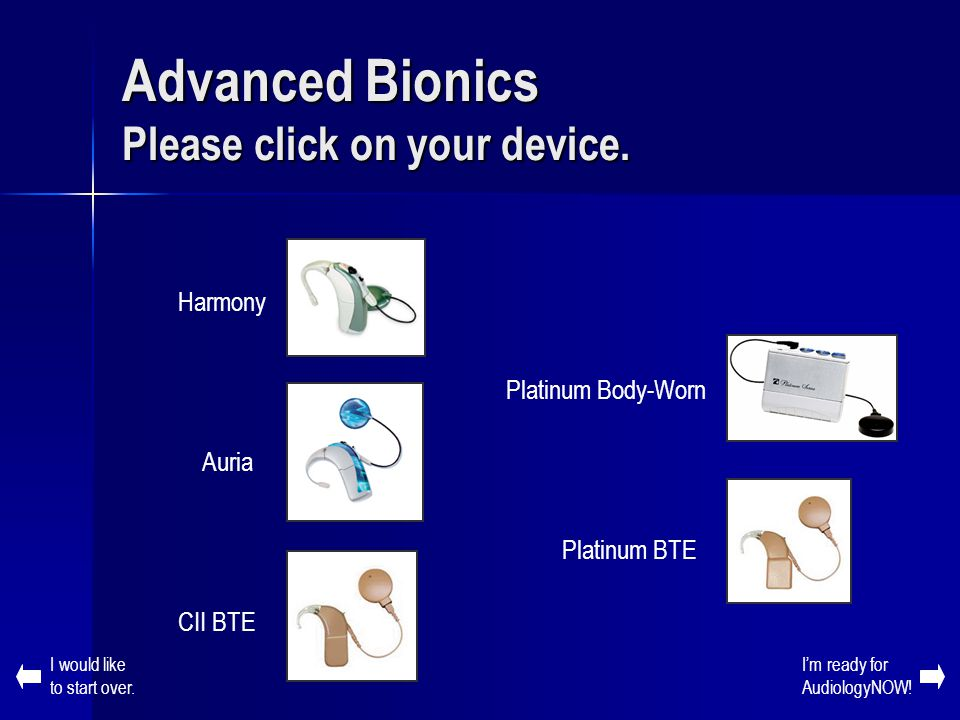 Advanced Bionics Please click on your device.