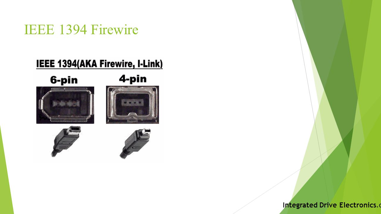 IEEE 1394 Firewire Integrated Drive Electronics.com