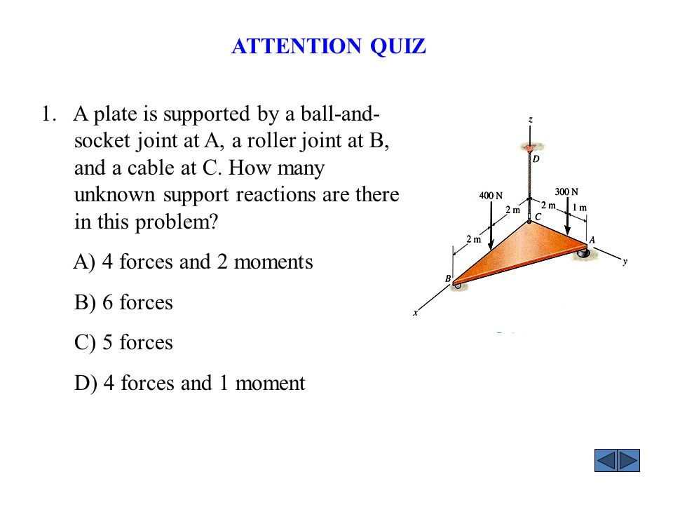 ANSWER: 1. C ATTENTION QUIZ