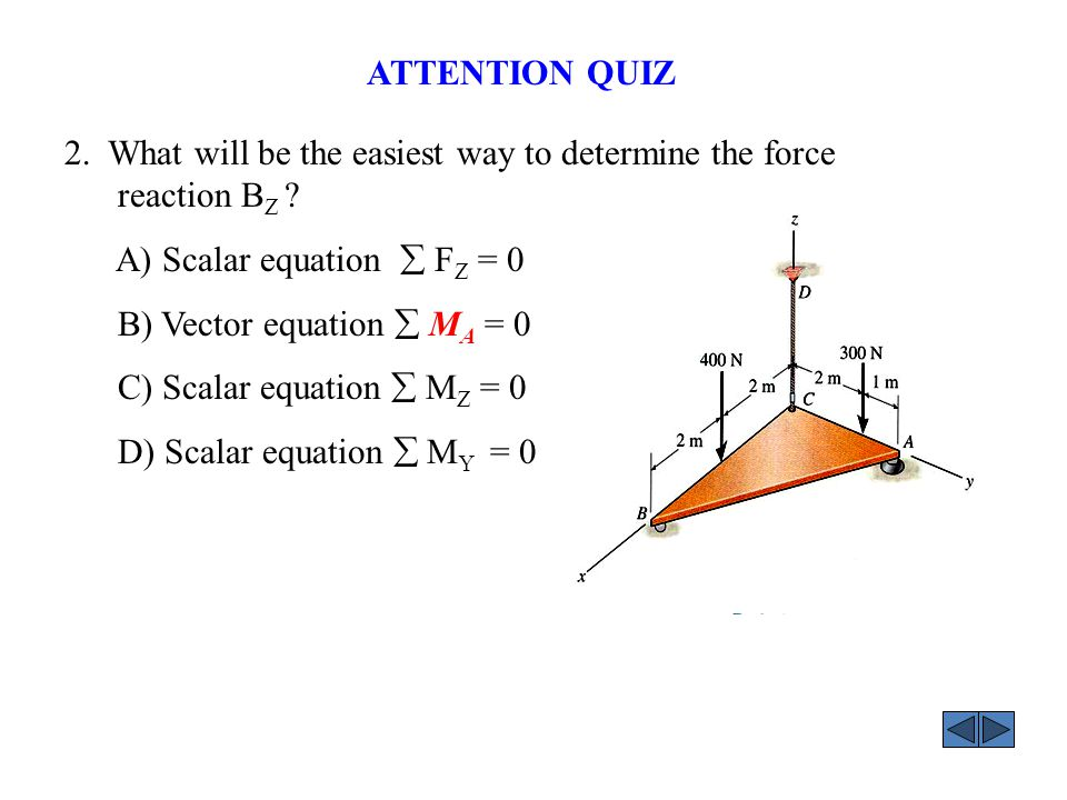 ANSWERS: 2. D ATTENTION QUIZ