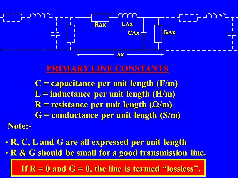 PRIMARY LINE CONSTANTS