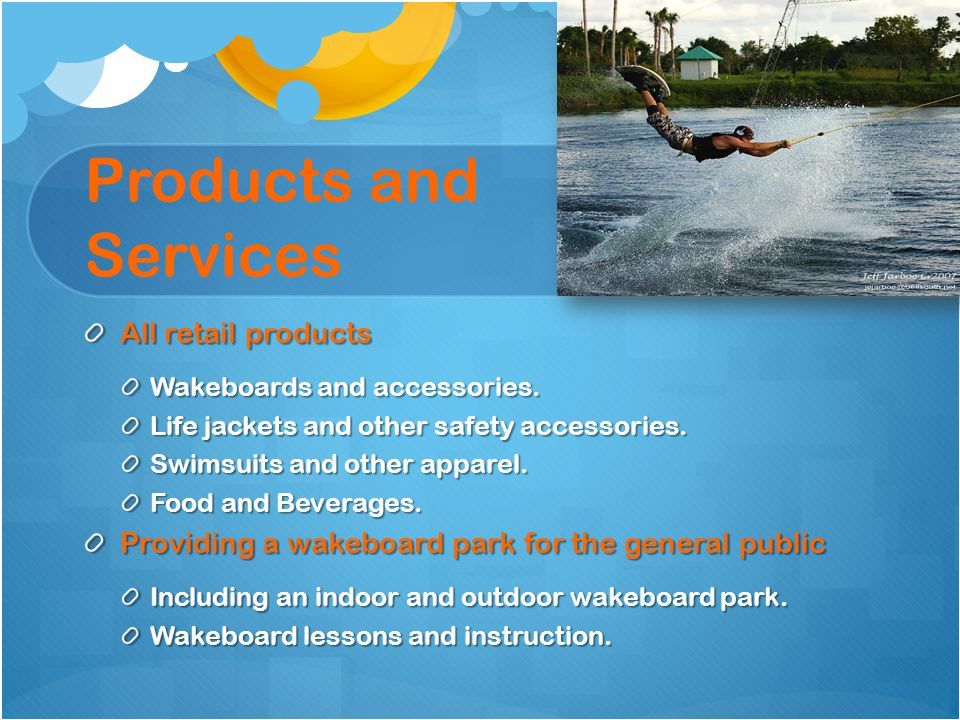 Products and Services All retail products