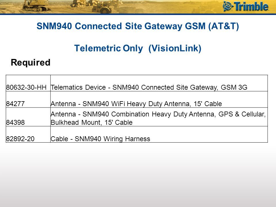 SNM940 Connected Site Gateway GSM (AT&T) Telemetric Only (VisionLink)