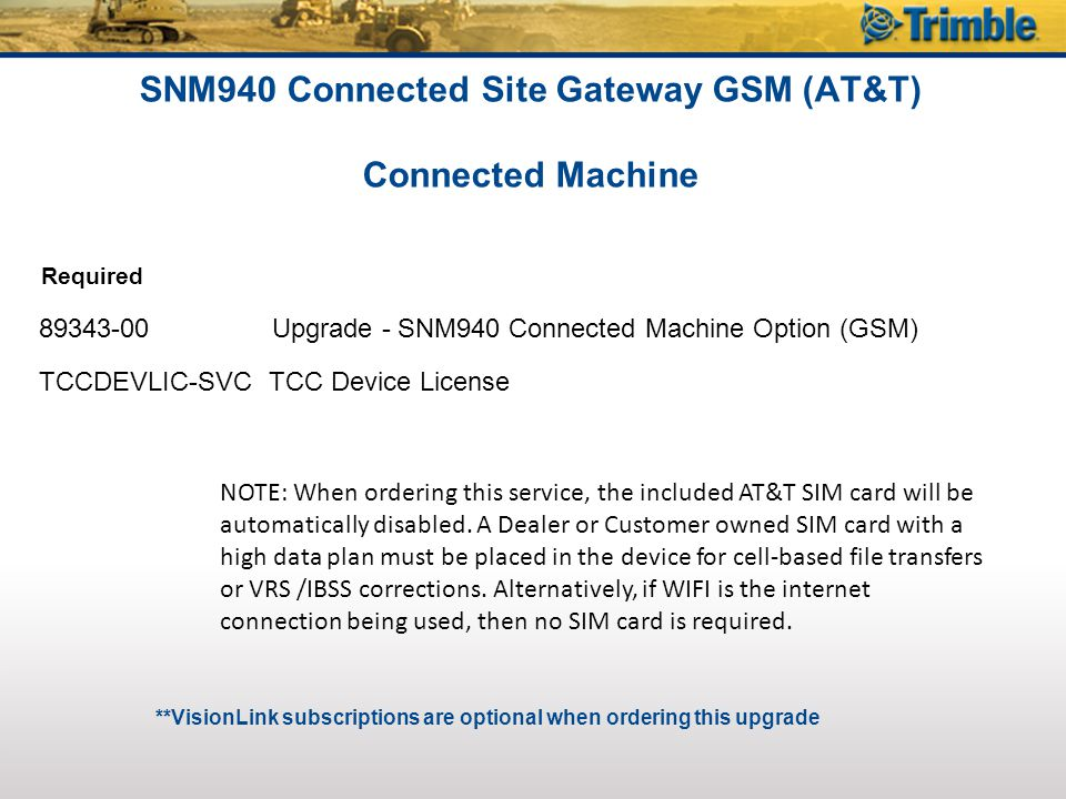 SNM940 Connected Site Gateway GSM (AT&T) Connected Machine