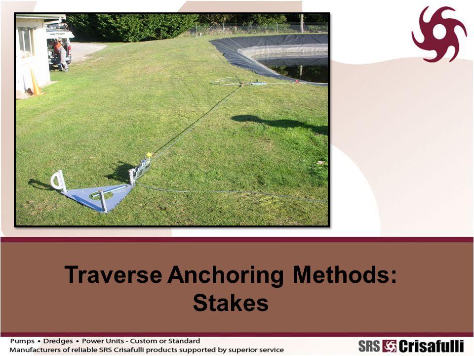 Traverse Anchoring Methods: Stakes