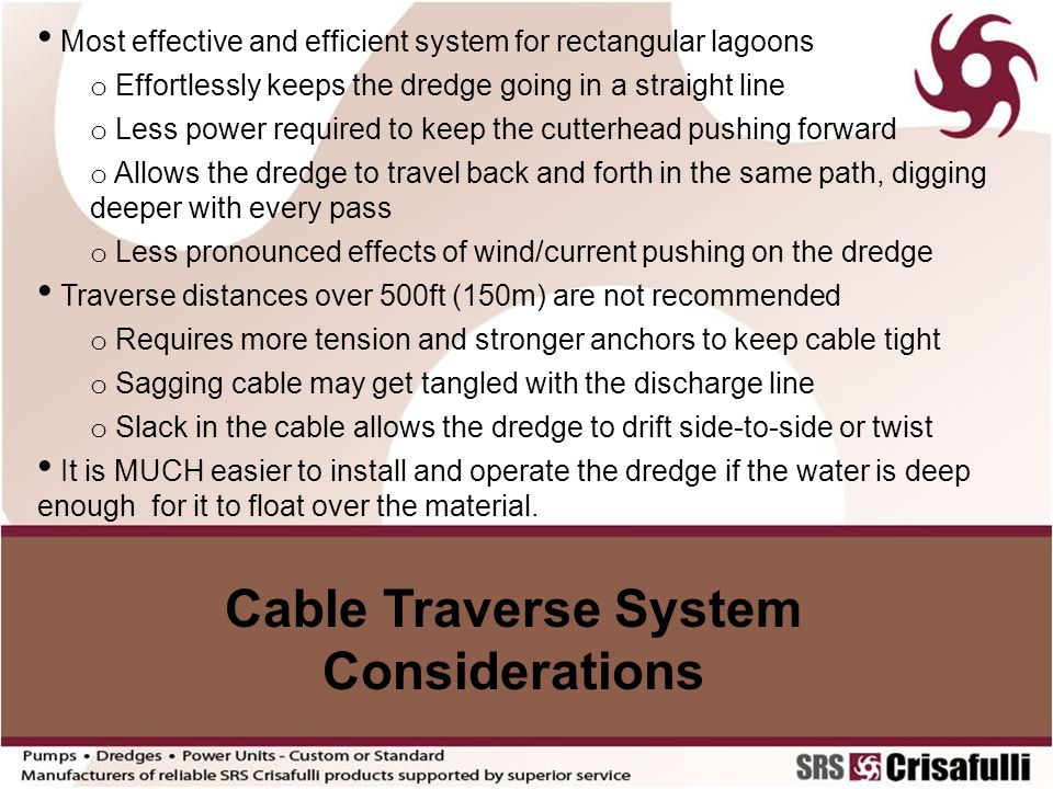 Cable Traverse System Considerations