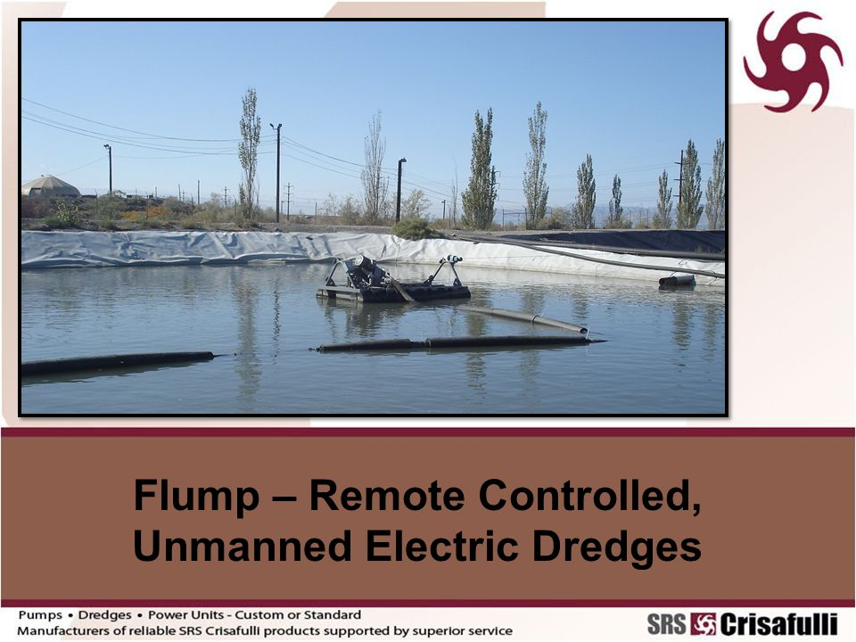 Flump – Remote Controlled, Unmanned Electric Dredges