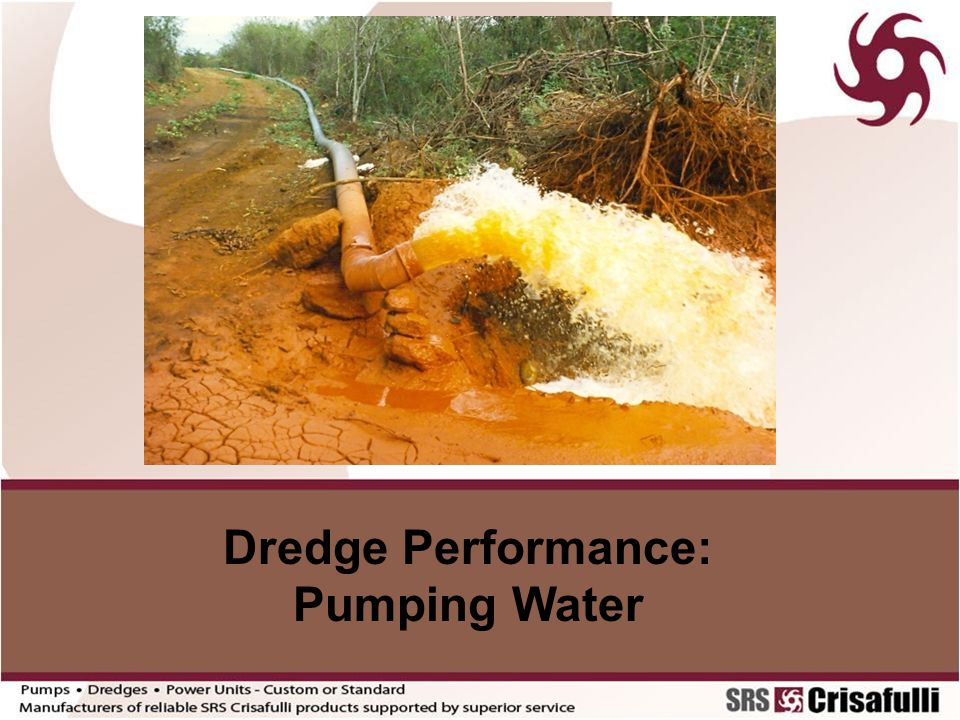 Dredge Performance: Pumping Water
