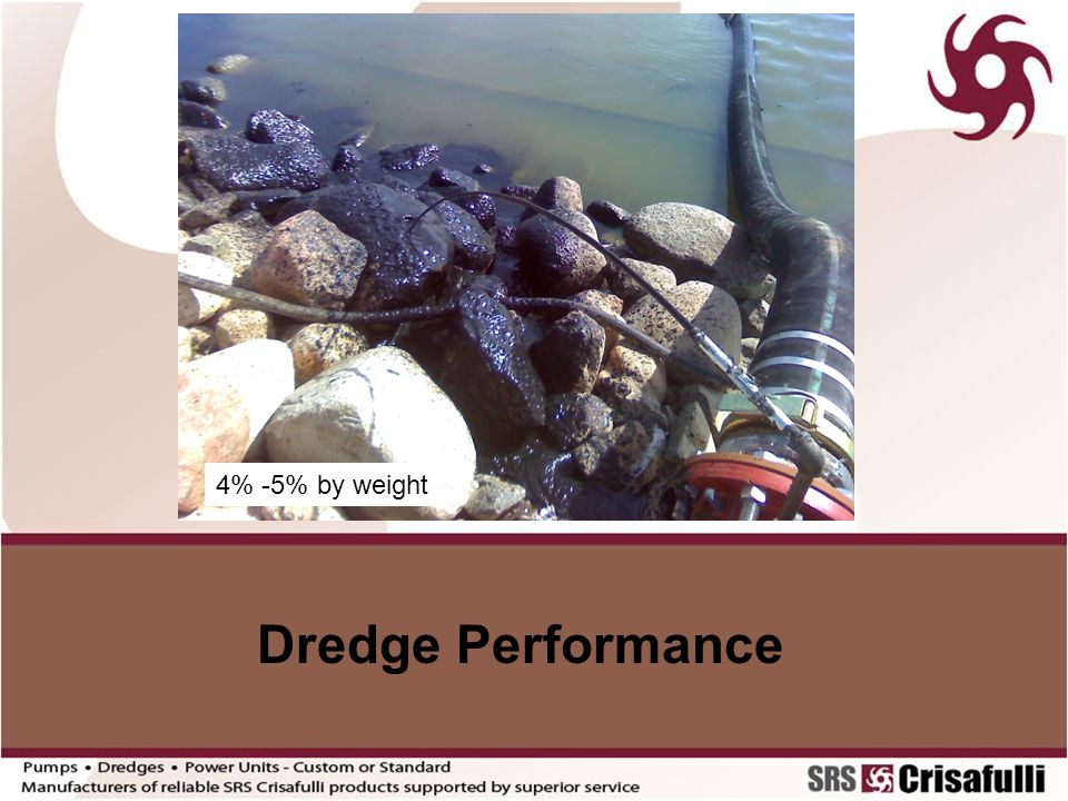 4% -5% by weight Dredge Performance