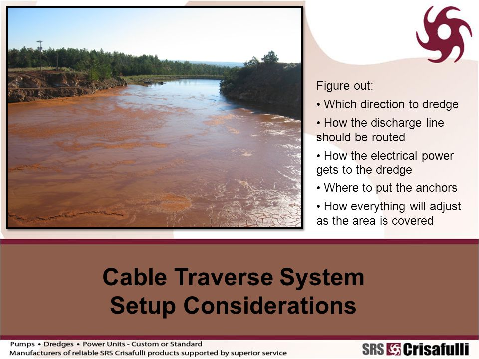 Cable Traverse System Setup Considerations