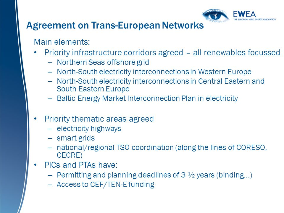 Agreement on Trans-European Networks