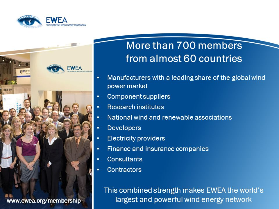 More than 700 members from almost 60 countries