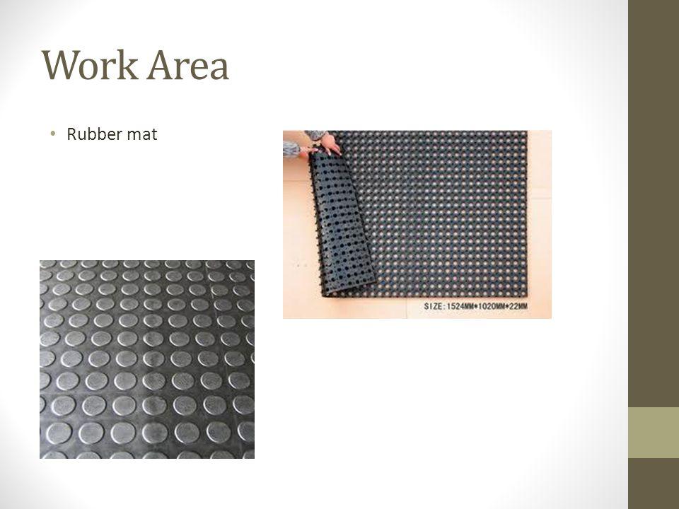 Work Area Rubber mat