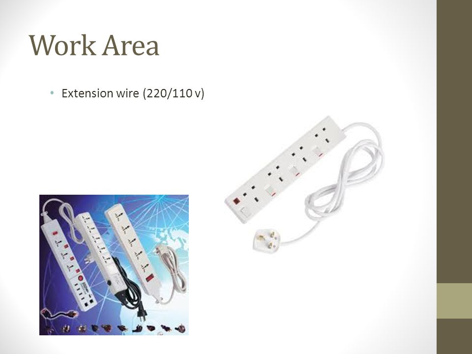 Work Area Extension wire (220/110 v)