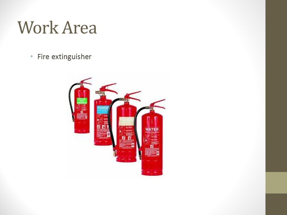 Work Area Fire extinguisher