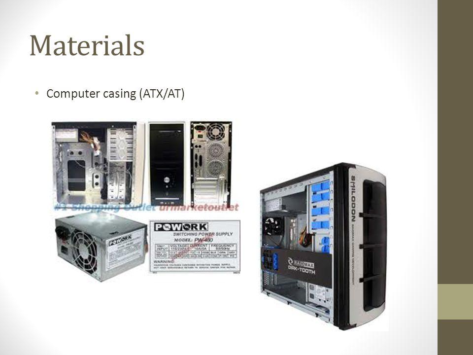 Materials Computer casing (ATX/AT)