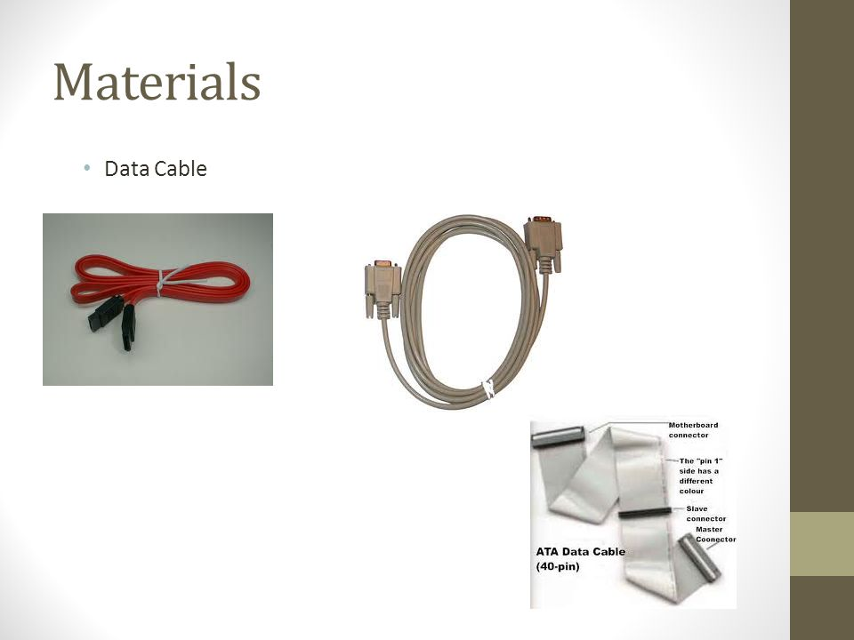 Materials Data Cable