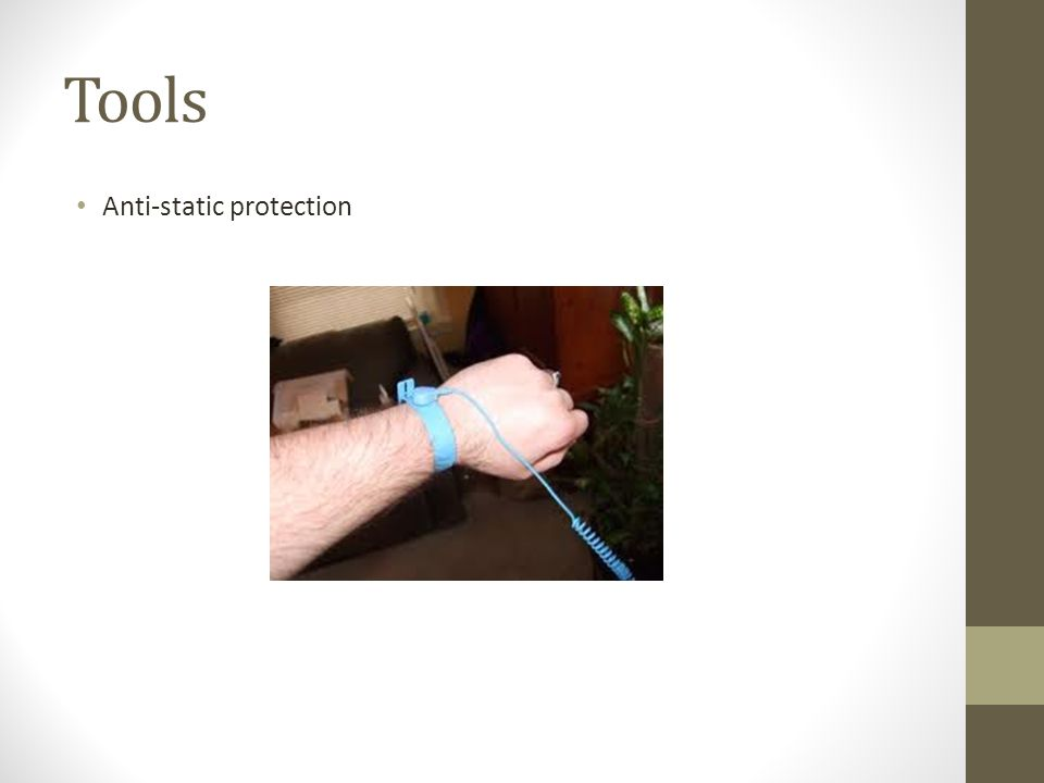 Tools Anti-static protection