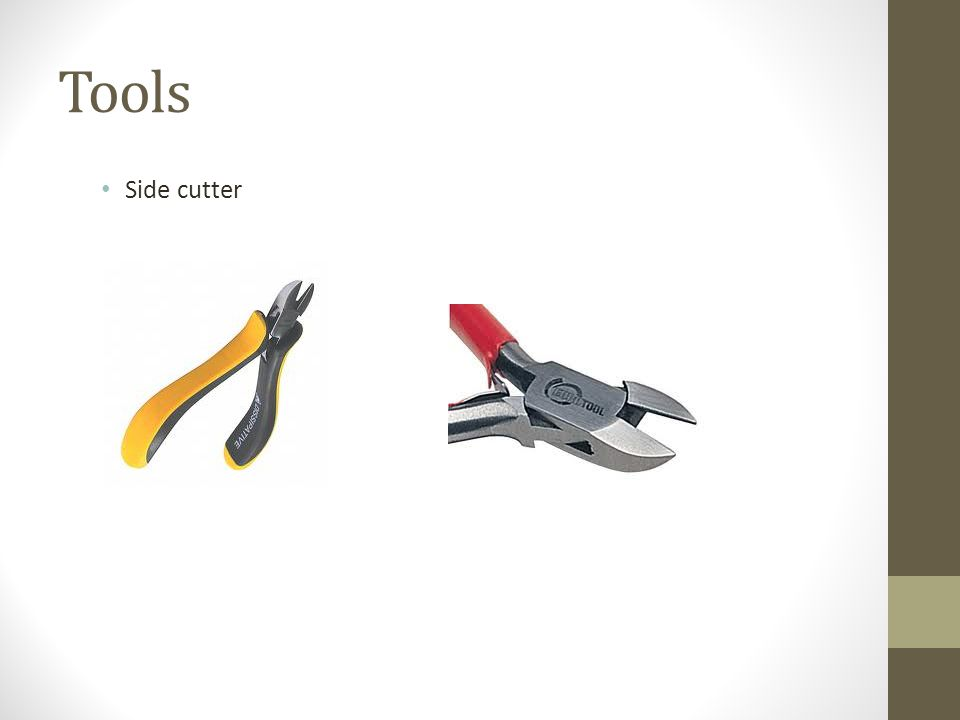Tools Side cutter