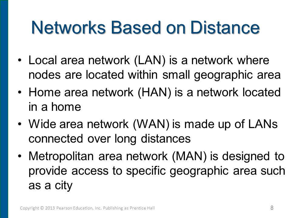 Network Components All networks must include: