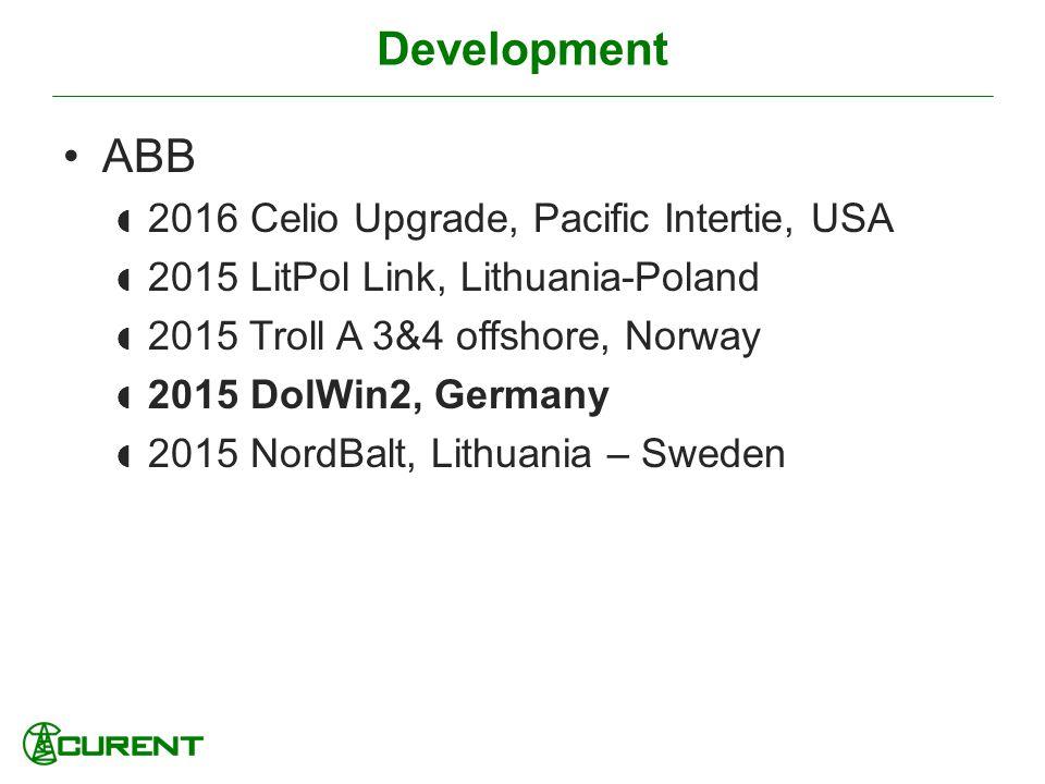Development ABB 2016 Celio Upgrade, Pacific Intertie, USA