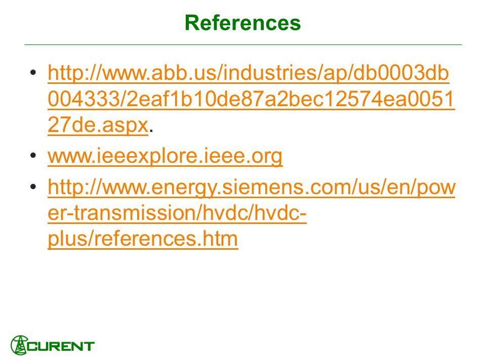 References http://www.abb.us/industries/ap/db0003db004333/2eaf1b10de87a2bec12574ea005127de.aspx. www.ieeexplore.ieee.org.
