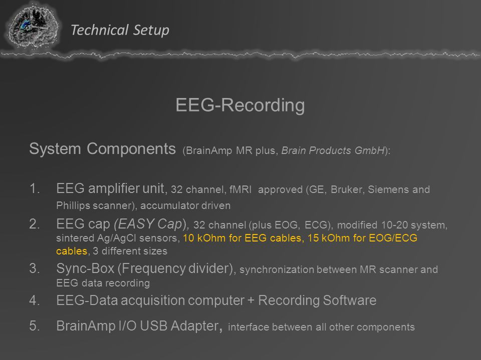 EEG-Recording Technical Setup