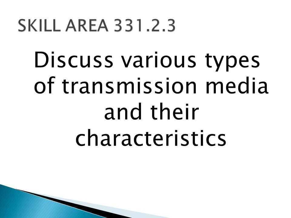 Discuss various types of transmission media and their characteristics